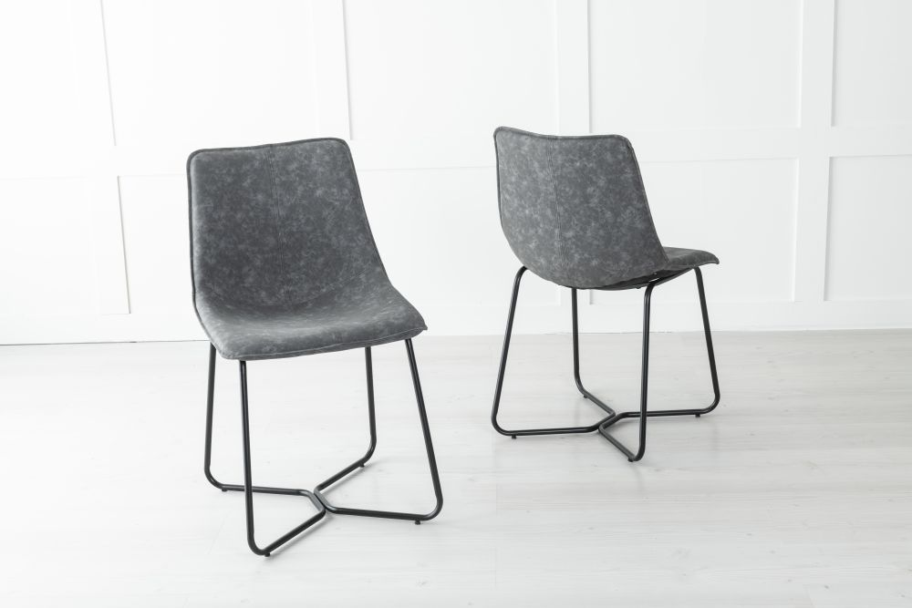 Flint Metal Grey Dining Chair