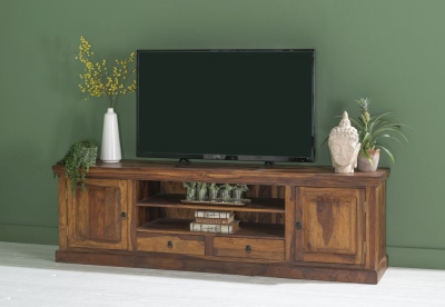 Ganga Indian Sheesham Wood Extra-Large 200cm Plasma TV Unit