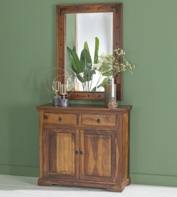 Ganga Indian Sheesham Wood 2 Door Small Sideboard