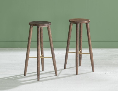 Ganga Indian Sheesham Wood Bar Stool