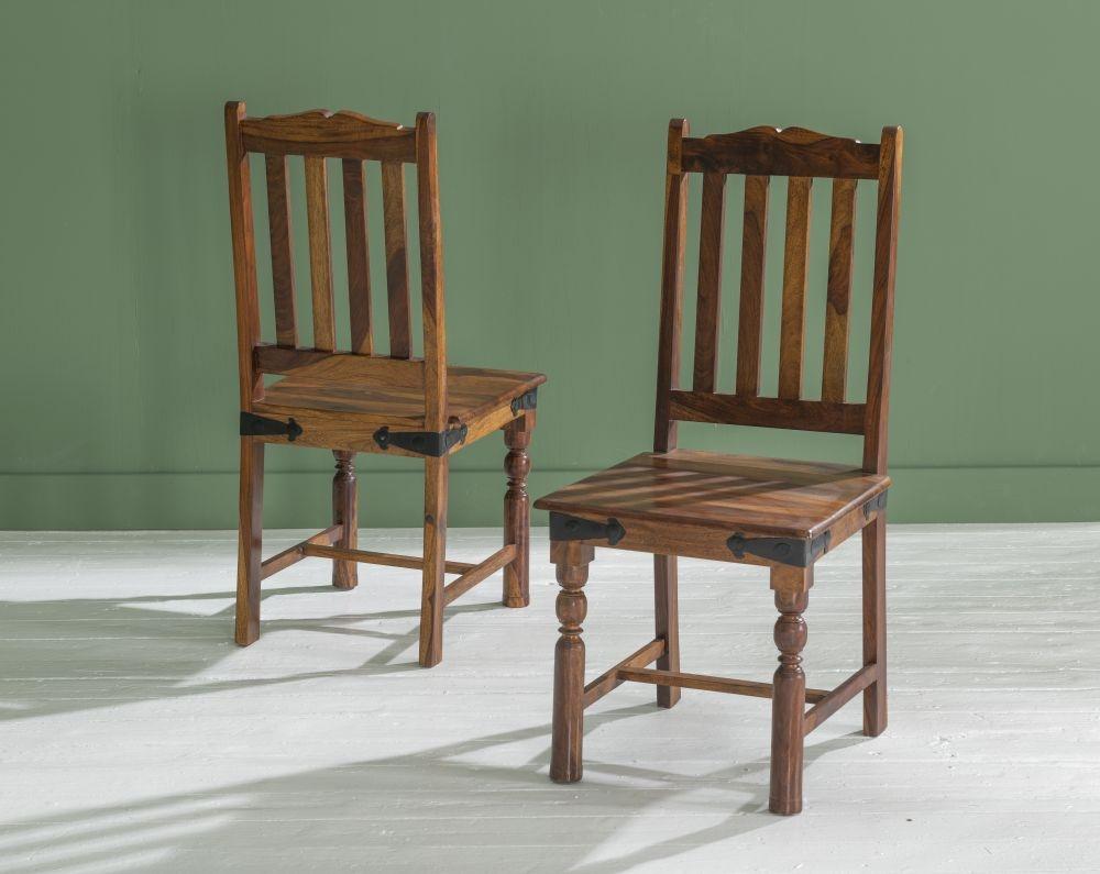 Ganga Indian Sheesham Wood Slatted Back Dining Chair