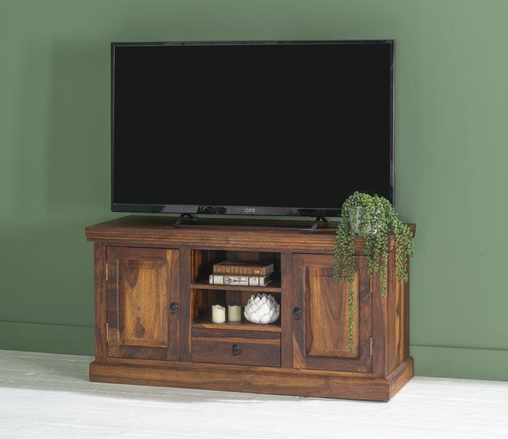 Ganga Indian Sheesham Wood Large 120cm Plasma TV Unit