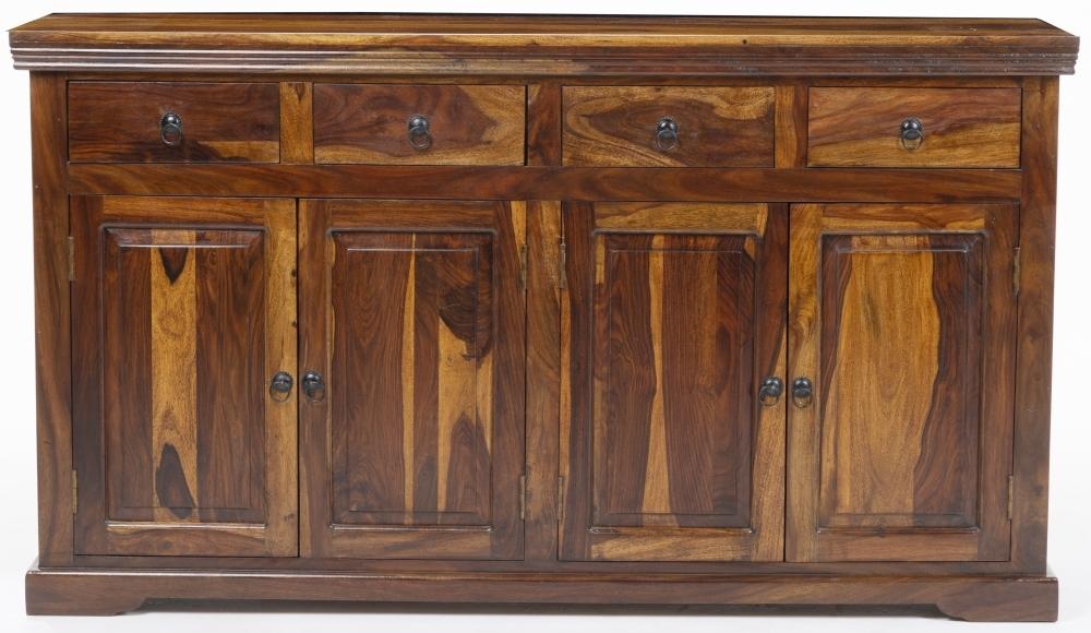 Ganga Indian Sheesham Wood 4 Door Large Sideboard