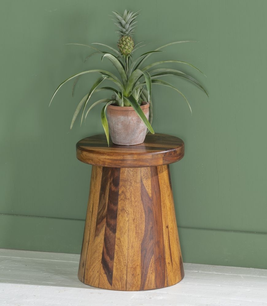 Ganga Indian Sheesham Wood Side Table