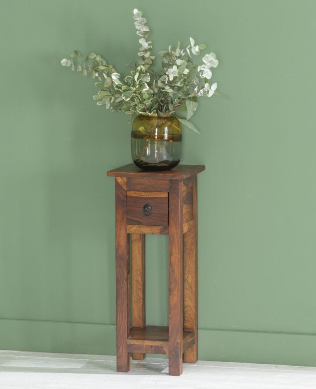 Ganga Indian Sheesham Wood Narrow Telephone Table