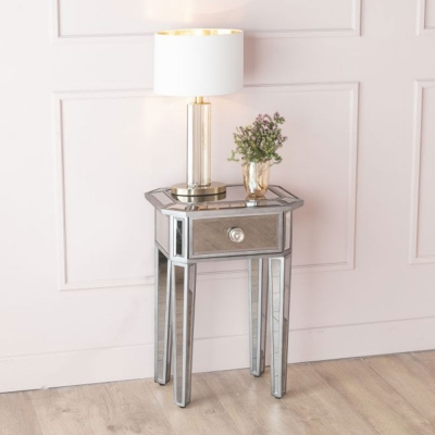 Urban Deco Gatsby Aged Mirrored Bedside Table