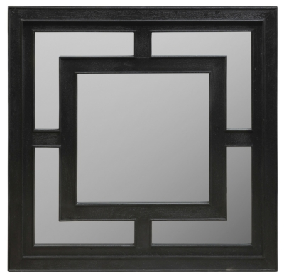 Urban Deco Geo Black Square Wall Mirror - 120cm x 120cm