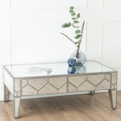 Urban Deco Honeycomb Mirrored Coffee Table