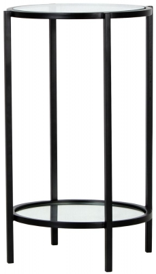 Hyde Round Black Metal Side Table