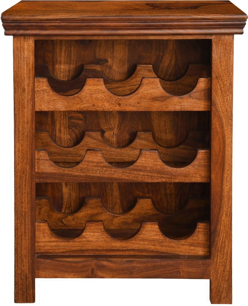Urban Deco Wood Jali Sheesham Wine Rack