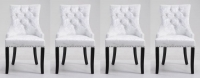 4 x Mink Velvet Knockerback Dining Chair