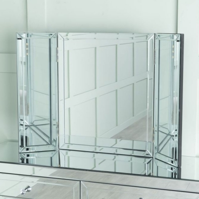 Urban Deco Lucia Mirrored Bedroom Tiple Mirror