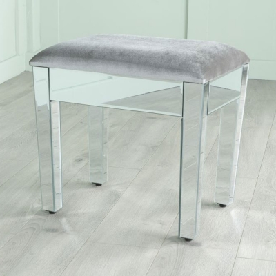 Urban Deco Lucia Mirrored Dressing Stool