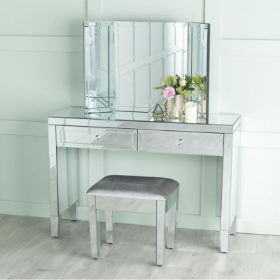Urban Deco Lucia Mirrored Dressing Cum Console Table