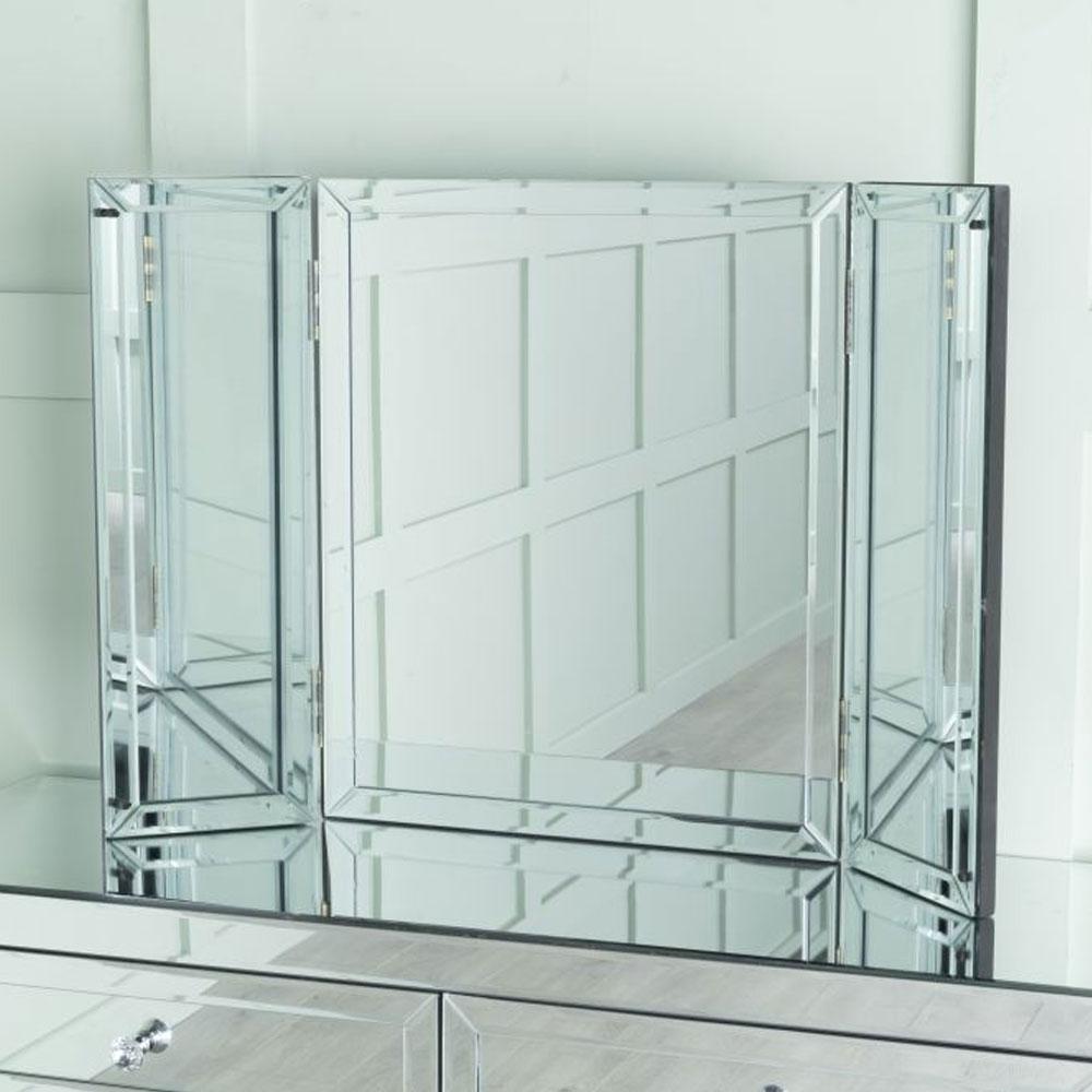 Lucia Mirrored Triple Mirror
