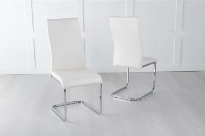 Malibu Cream Faux Leather Dining Chair