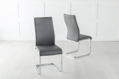 Malibu Metal Dark Grey Dining Chair