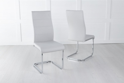 Malibu Grey Faux Leather Dining Chair