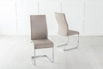 Malibu Metal Taupe Dining Chair