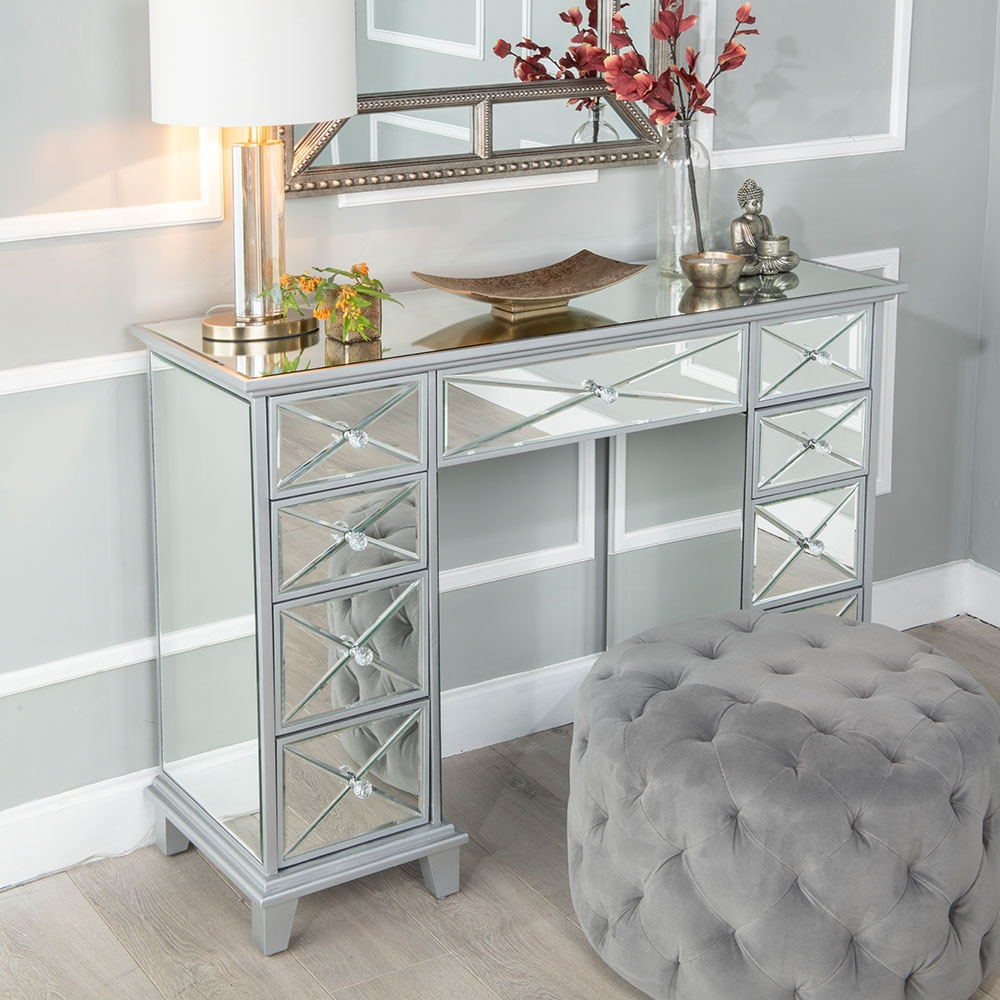 Product photograph showing Urban Deco Mayfair Mirrored Dressing Table