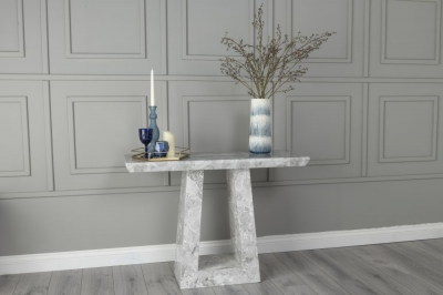 Urban Deco Milan Grey Marble Console Table