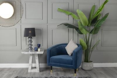 Urban Deco Milan Grey Marble Side Table