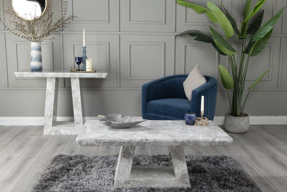 Urban Deco Milan Grey Marble Coffee Table