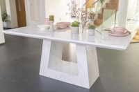 Urban Deco Milan White Marble 180cm Rectangular Dining Table