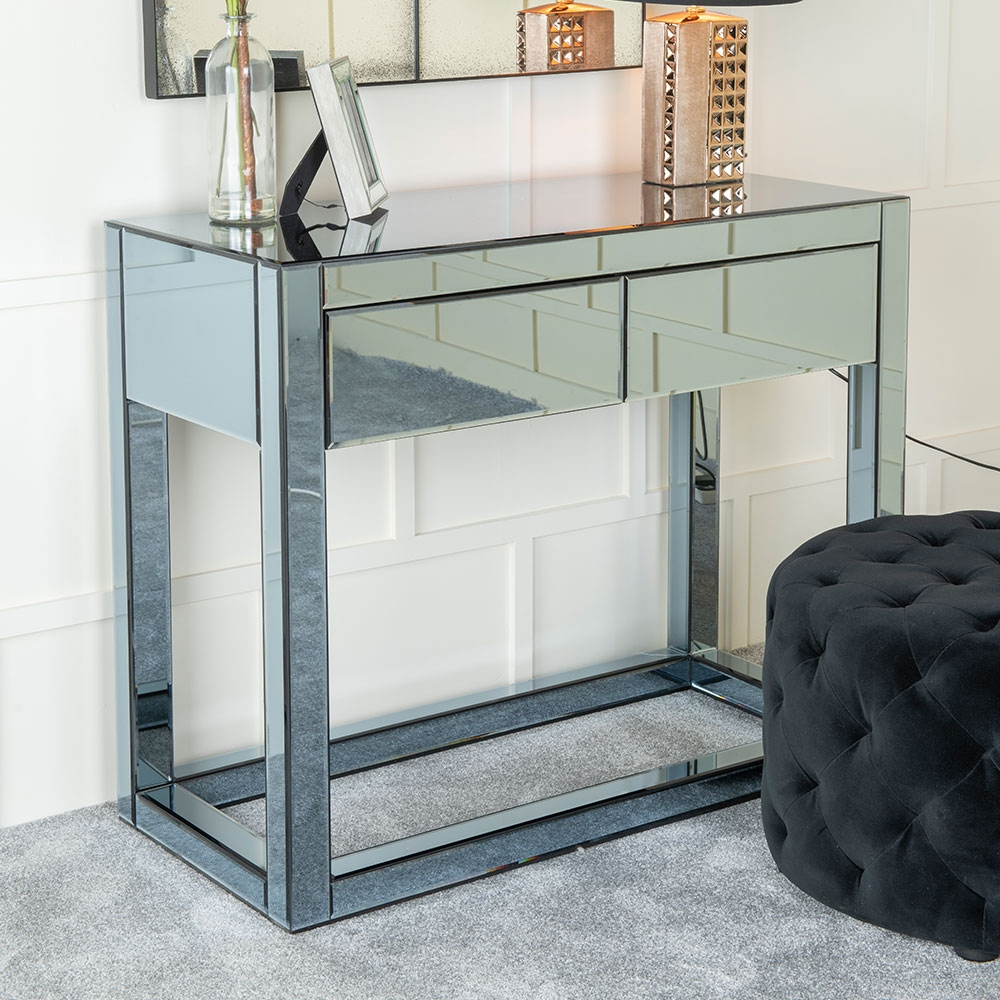 Urban Deco Moda Smoked Mirrored Dressing Table