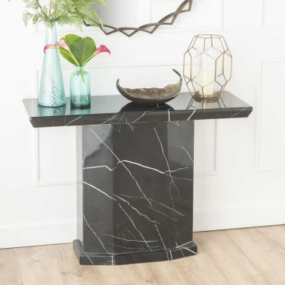 Urban Deco Naples Black Marble Console Table