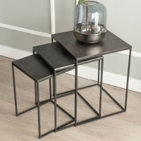 Urban Deco Apex Black Metal Nest of Tables