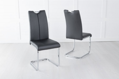 Nikko Black Faux Leather Dining Chair