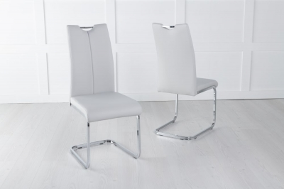 Nikko Light Grey Faux Leather Dining Chair