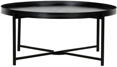 Nordic Round Black Coffee Table