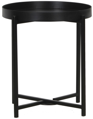 Nordic Round Black Side Table