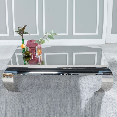 Urban Deco Opium Stainless Steel Chrome Coffee Table