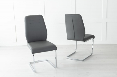 Oslo Metal Dark Grey Dining Chair