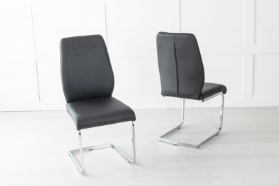 Oslo Black Faux Leather Dining Chair