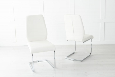 Oslo Cream Faux Leather Dining Chair