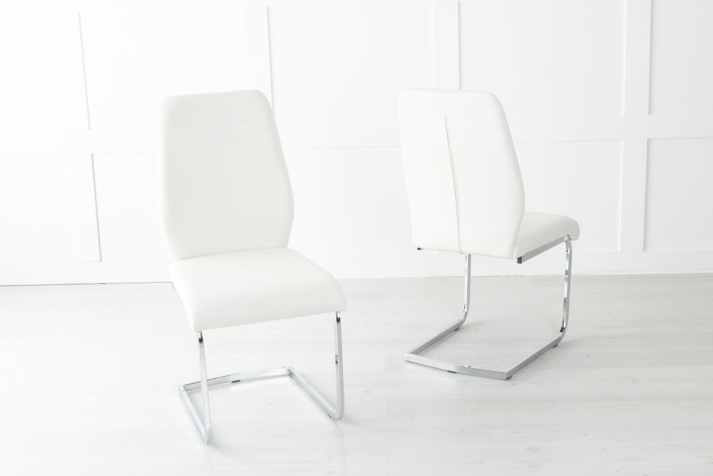 Oslo Metal Cream Dining Chair