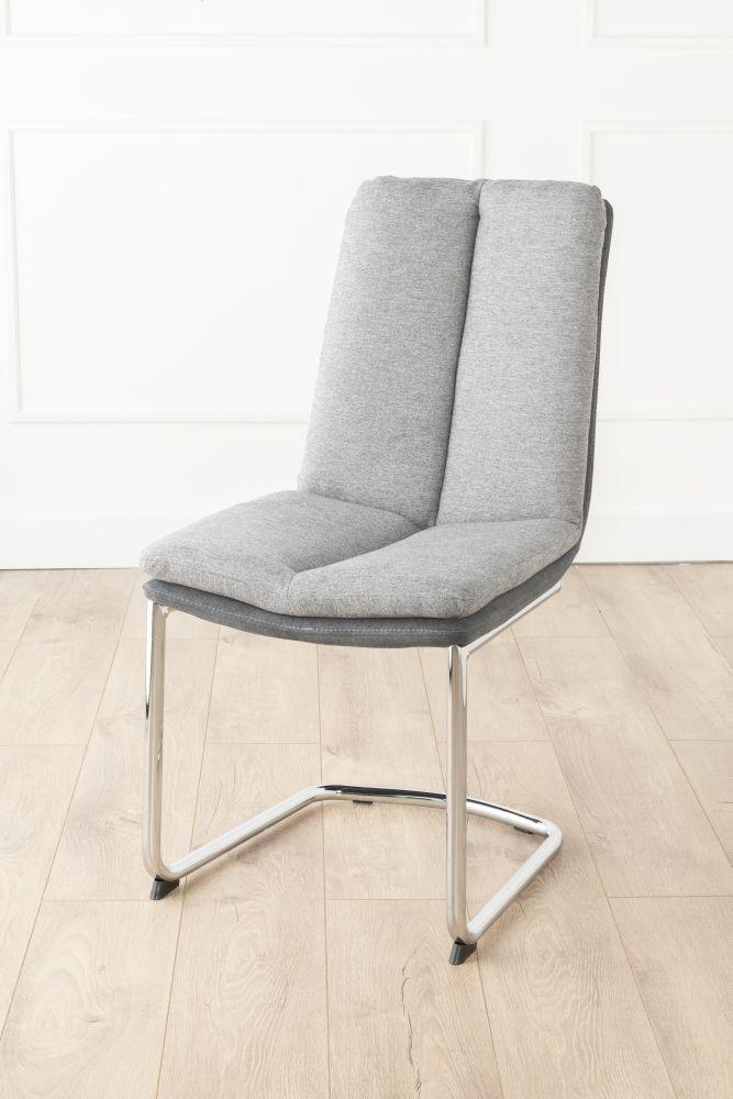 Urban Deco Tucson Grey Fabric Dining Chair (Pair)
