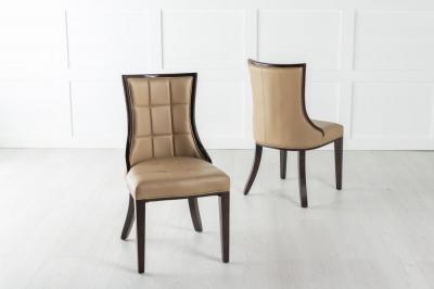 Paris Beige Faux Leather Dining Chair