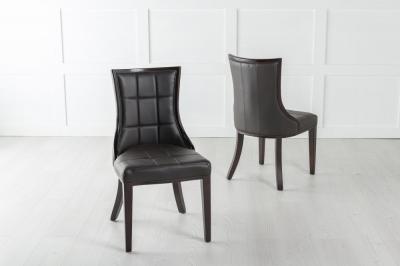 Paris Black Faux Leather Dining Chair