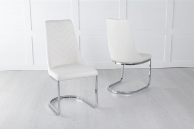 Phoenix Cream Faux Leather Dining Chair