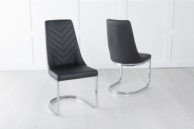 Phoenix Black Faux Leather Dining Chair