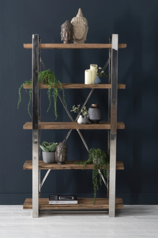 Railway Sleeper Wood Open Bookshelf