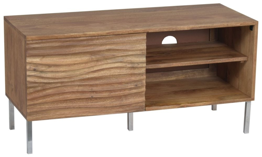 Ripple Wave Natural Small TV Entertainment Unit