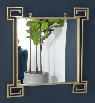 Roma Gold Square Mirror
