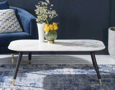 Scandi White Marble Coffee Table