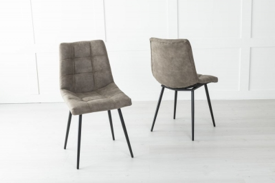 Shoreditch Metal Chocolate Brown Dining Chair